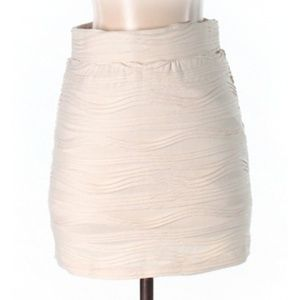 Urban Outfitters | textured ivory skirt